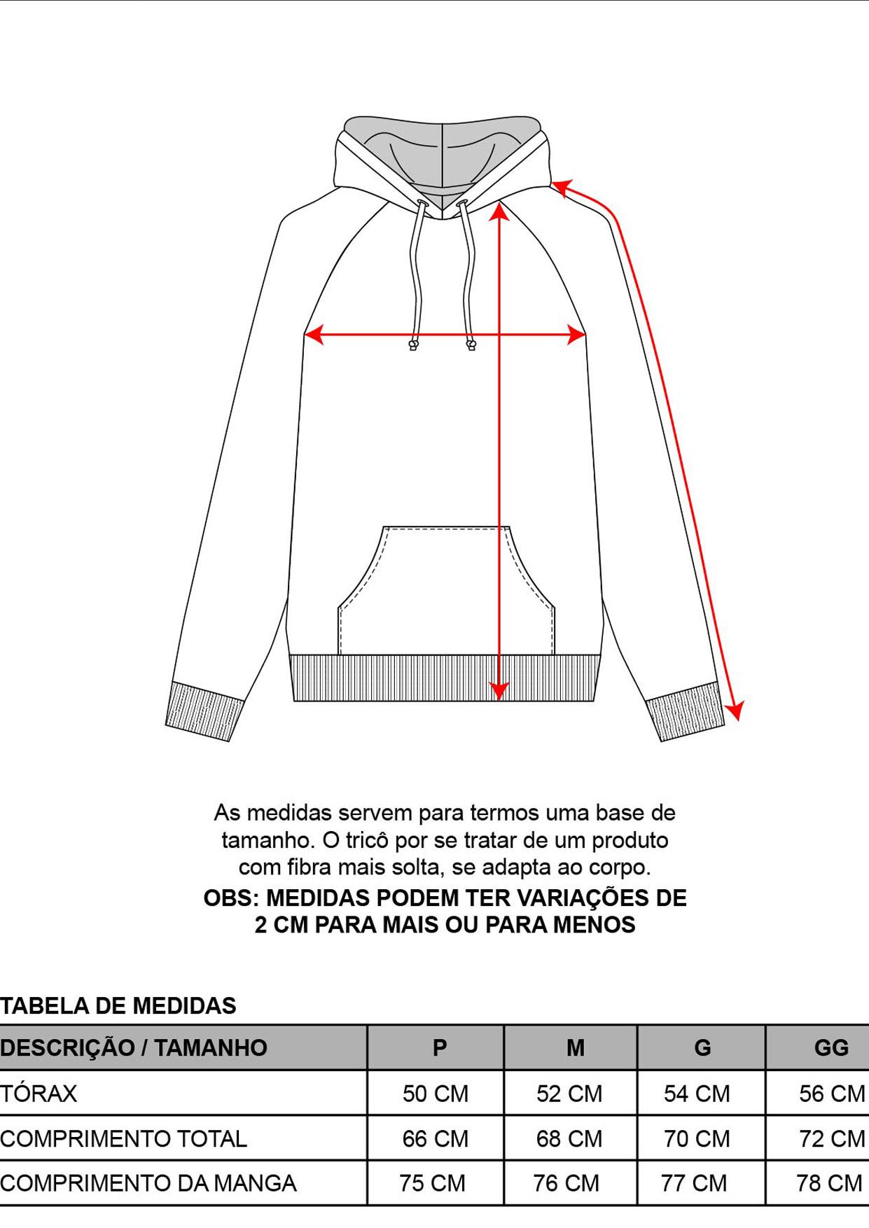 Blusa com Capuz Masculina Tricot Esmeralda