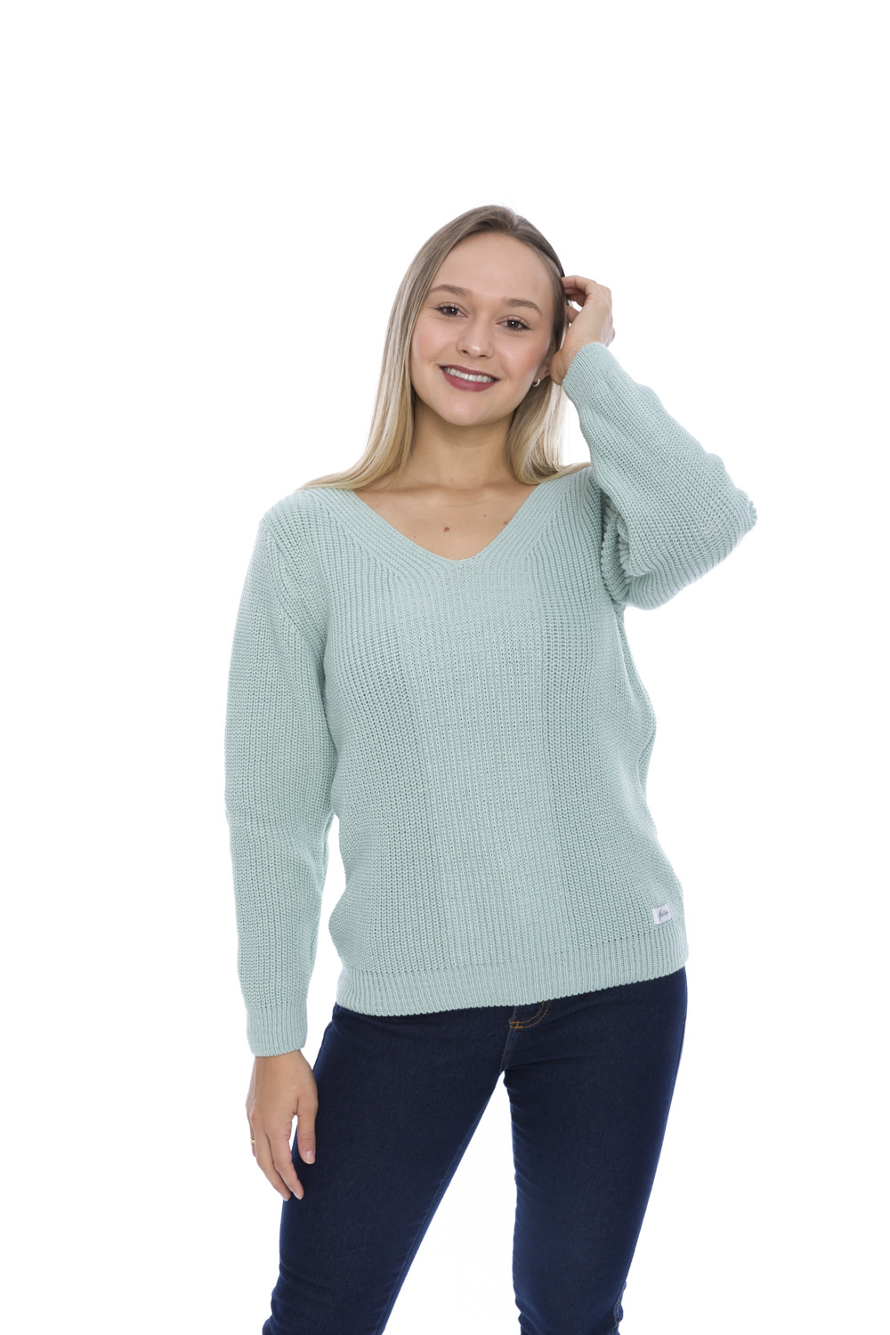 Blusa de Tricot Candy Color - Menta