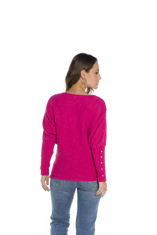 Blusa Decote Redondo Feminina Pink