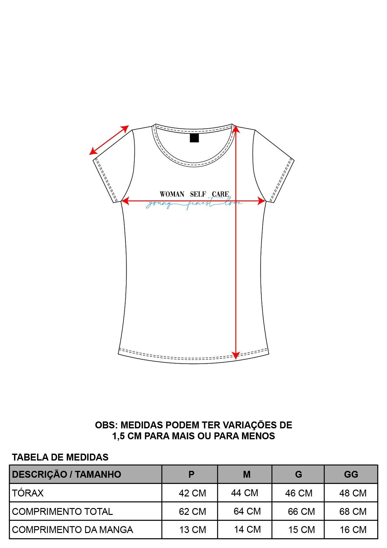 Blusa Decote Redondo Frase