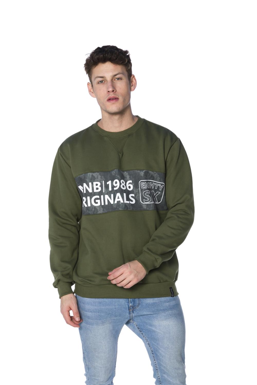 Blusa Decote Redondo Moletom Militar