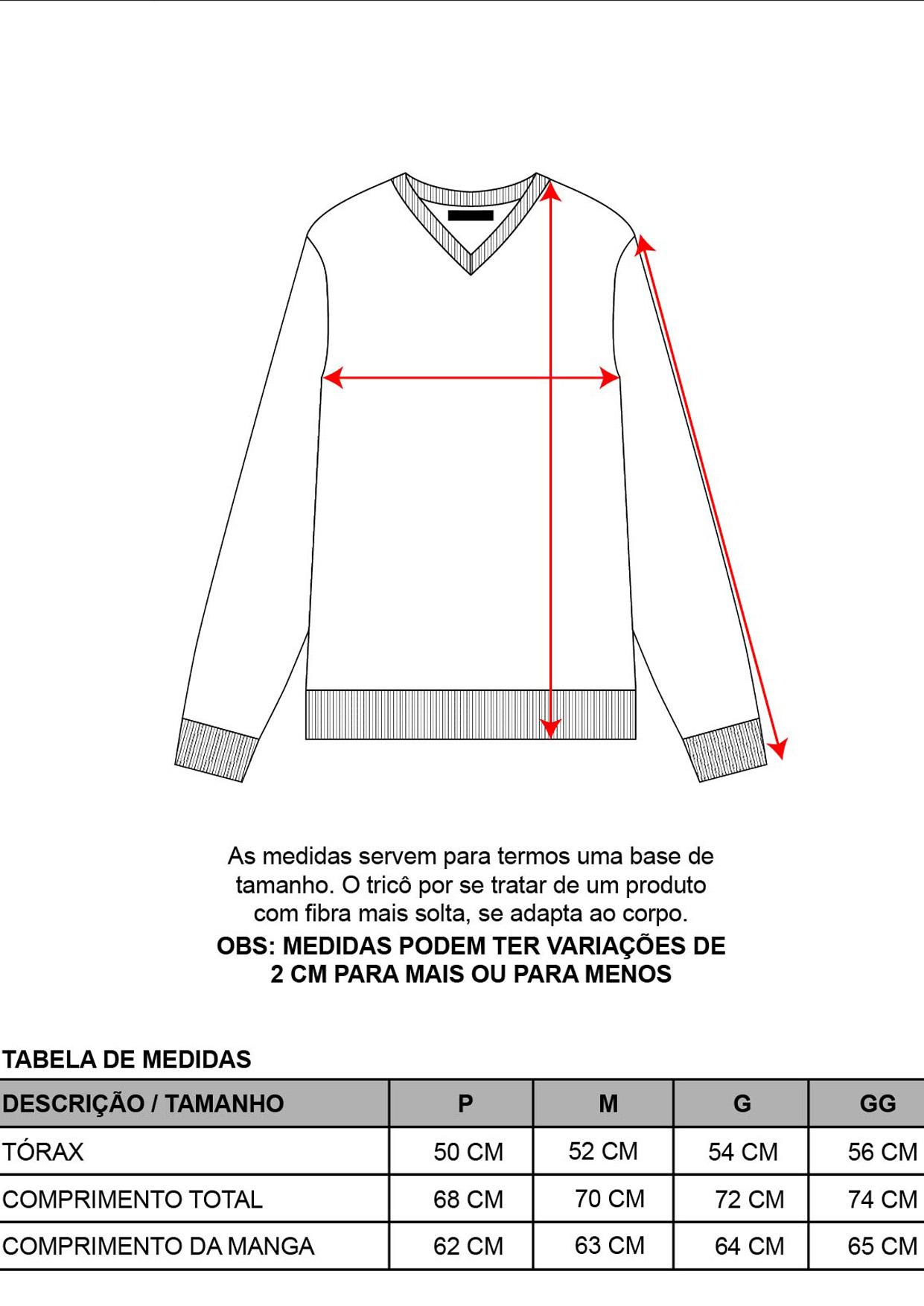 Blusa Decote V Masculina Tricot Preta