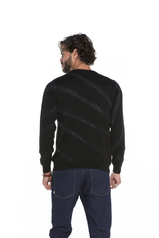 Blusa Masculina Slim Tricot Preto