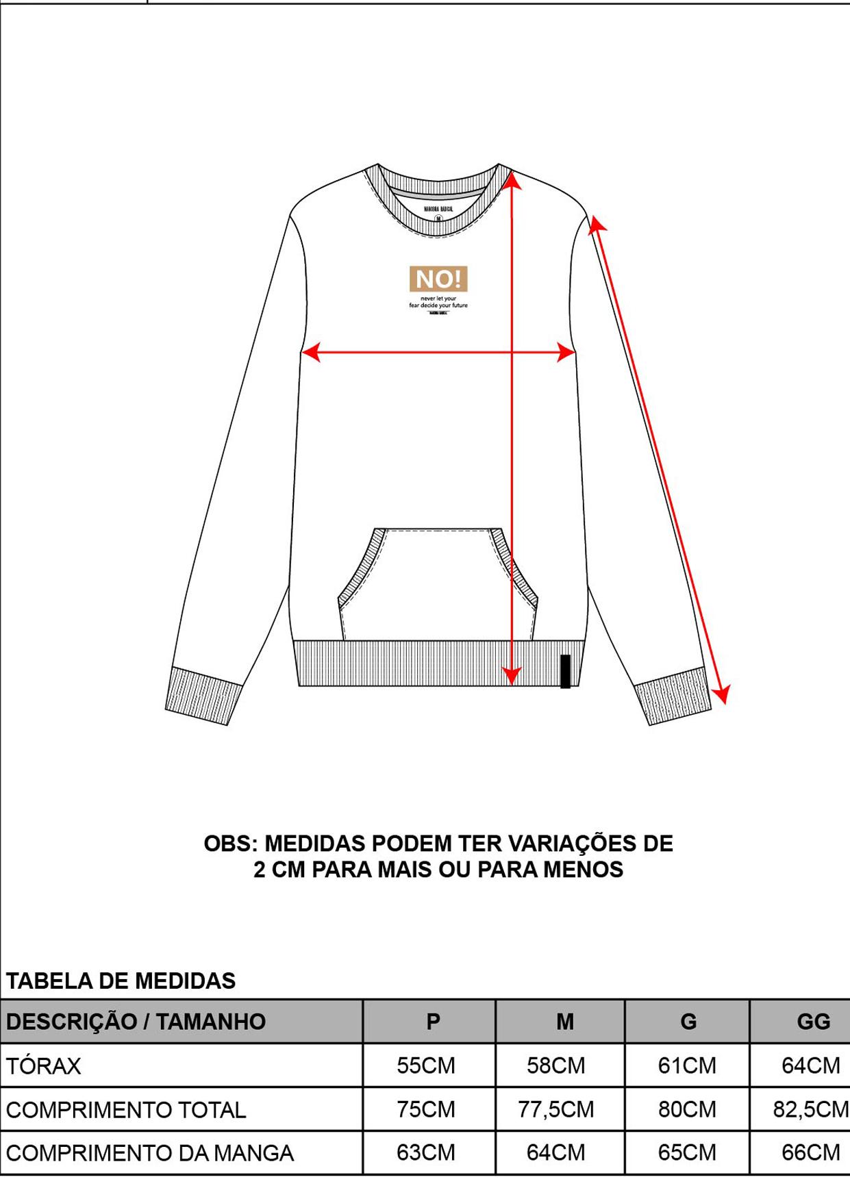 Blusa Moletinho Decote Redondo Masculina Preta