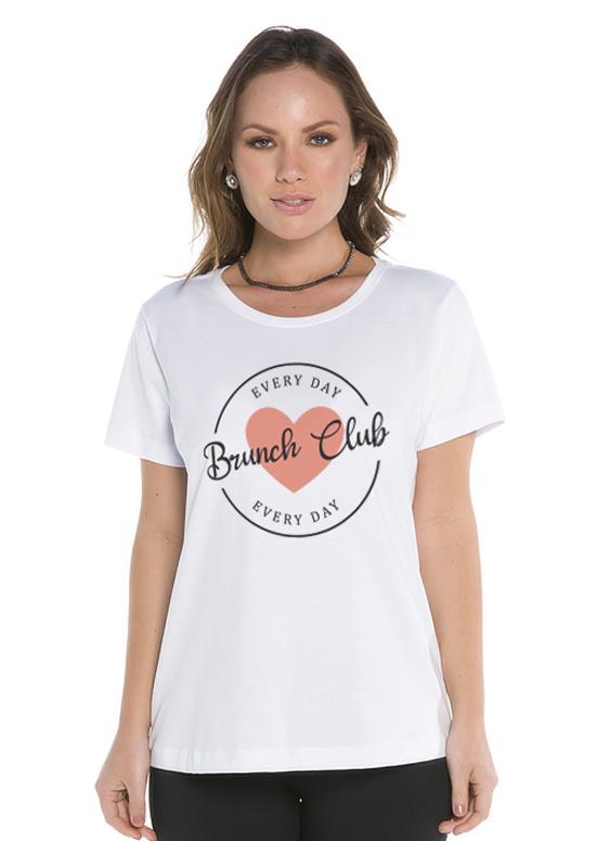 Blusinha Básica Brunch Club Branco