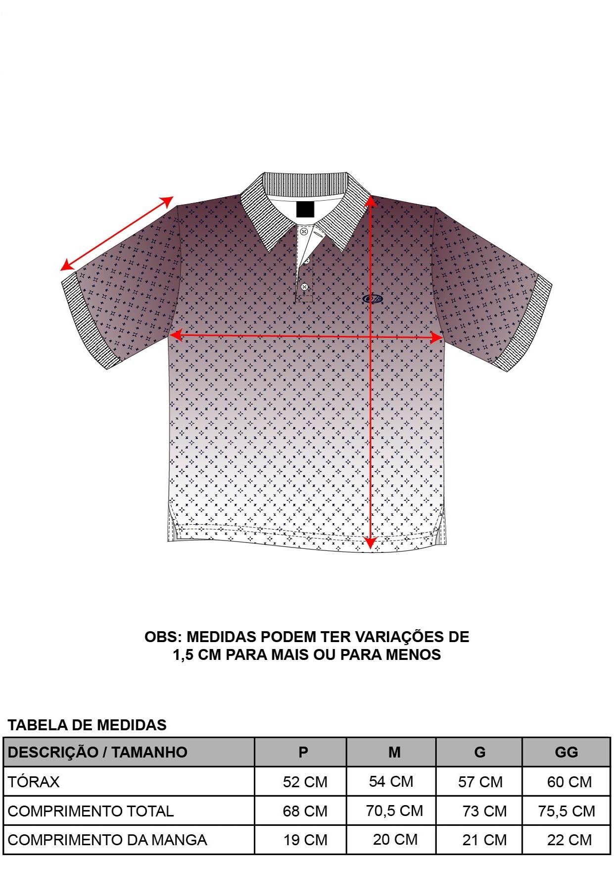 Camisa Pólo Degradê Gravataria