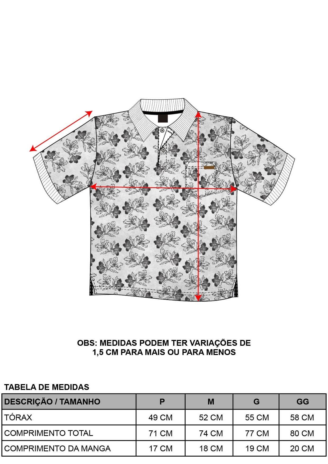 Camisa Pólo Floral