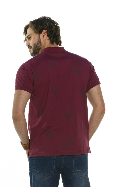 Camisa Pólo Folhagens
