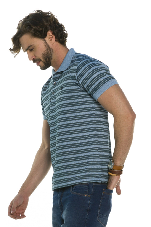 Camisa Pólo Listrada