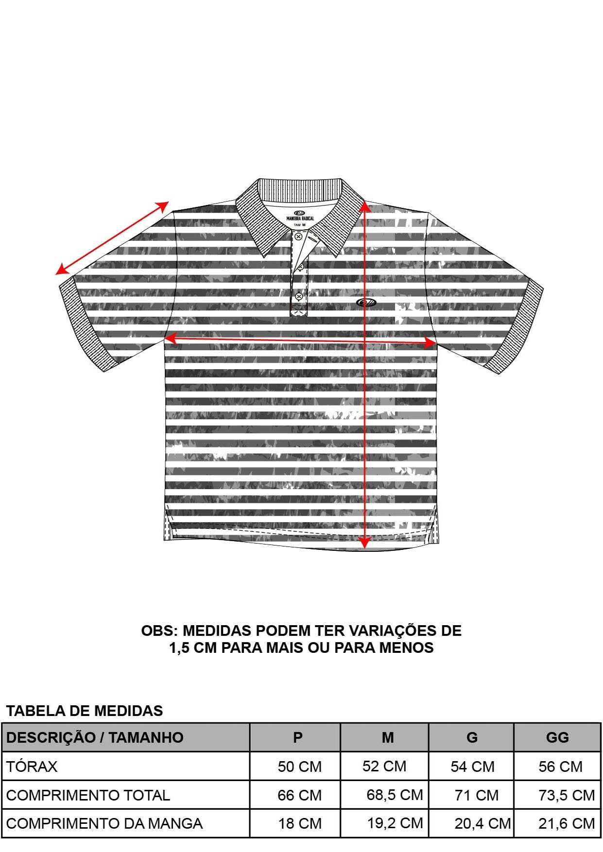 Camisa Pólo Listras Falhadas