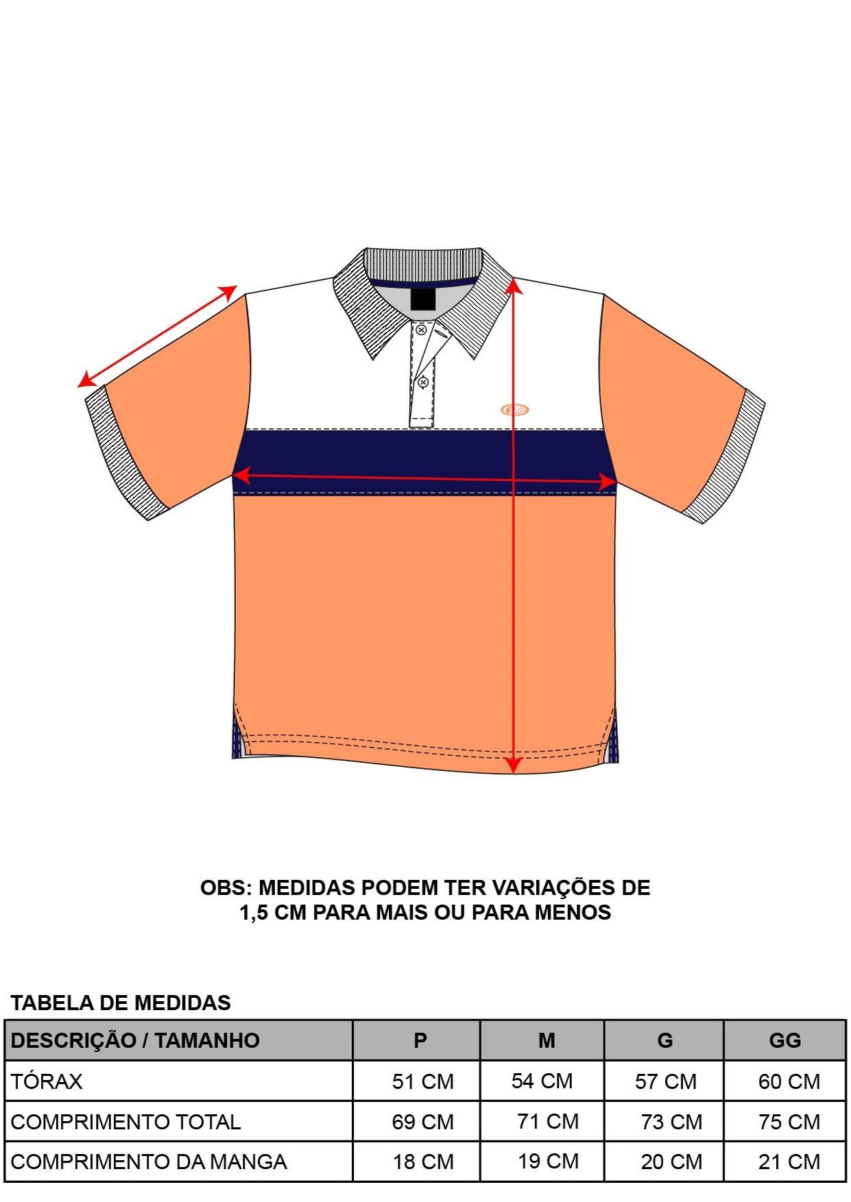 Camisa Pólo Recortes
