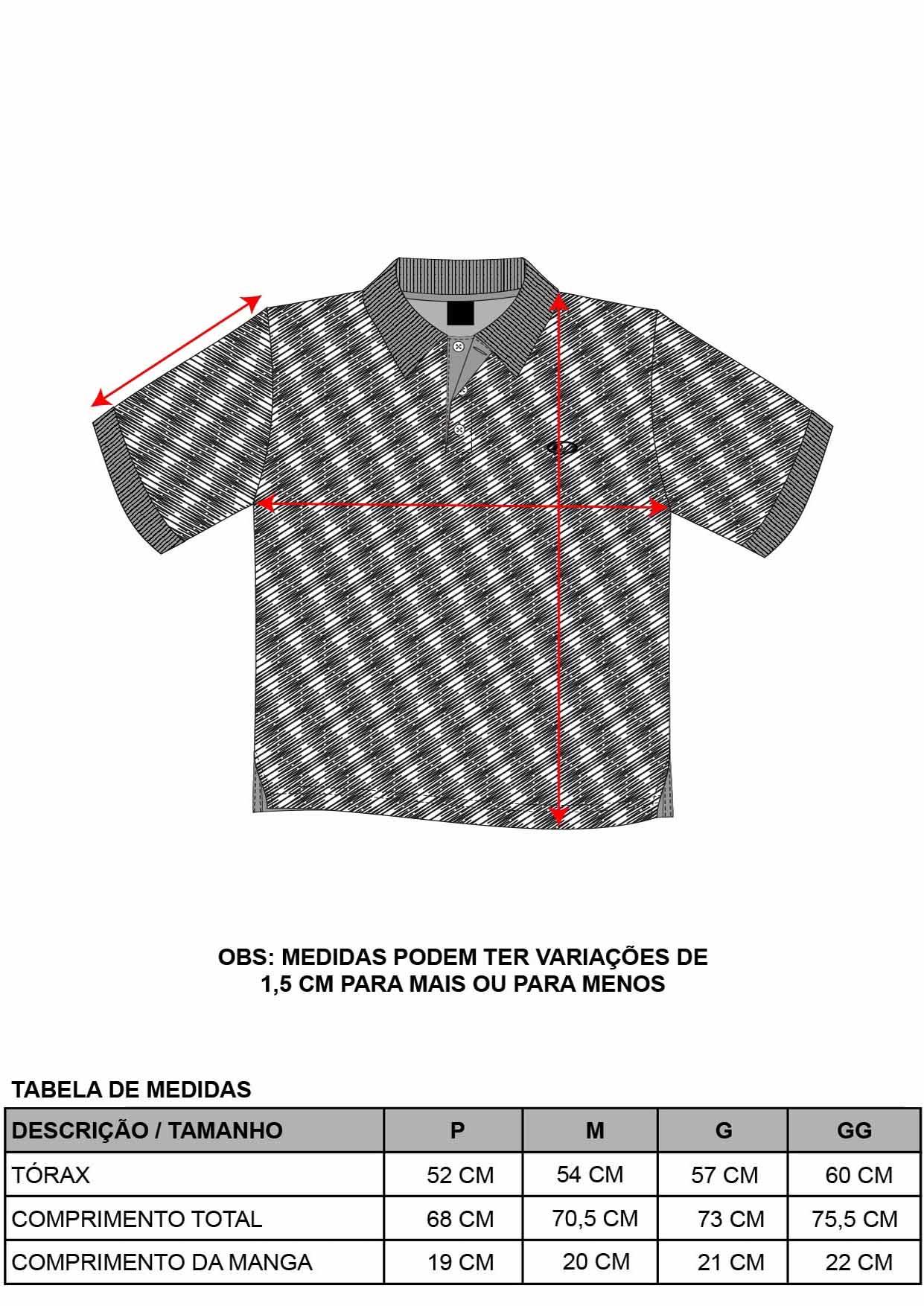 Camisa Pólo Riscado