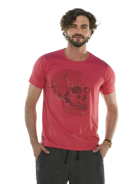 Camiseta Decote Redondo Pixelated Skull
