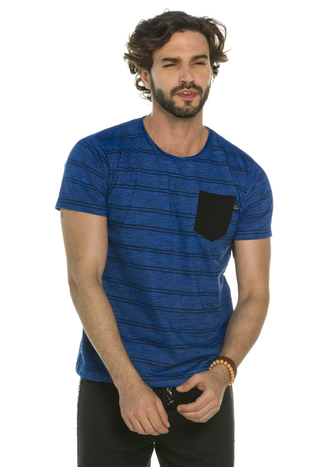 Camiseta Decote Redondo Stripes