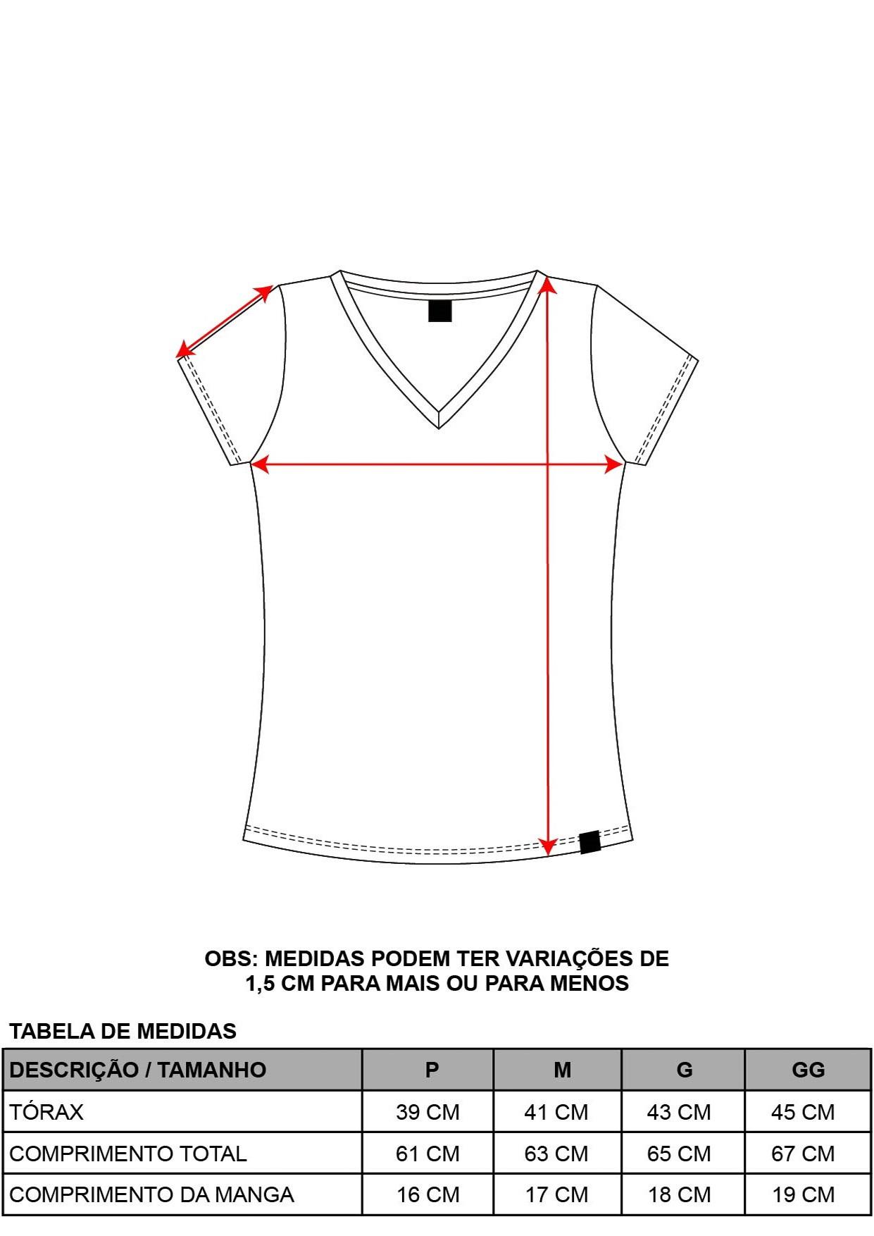 Camiseta Decote V Básica