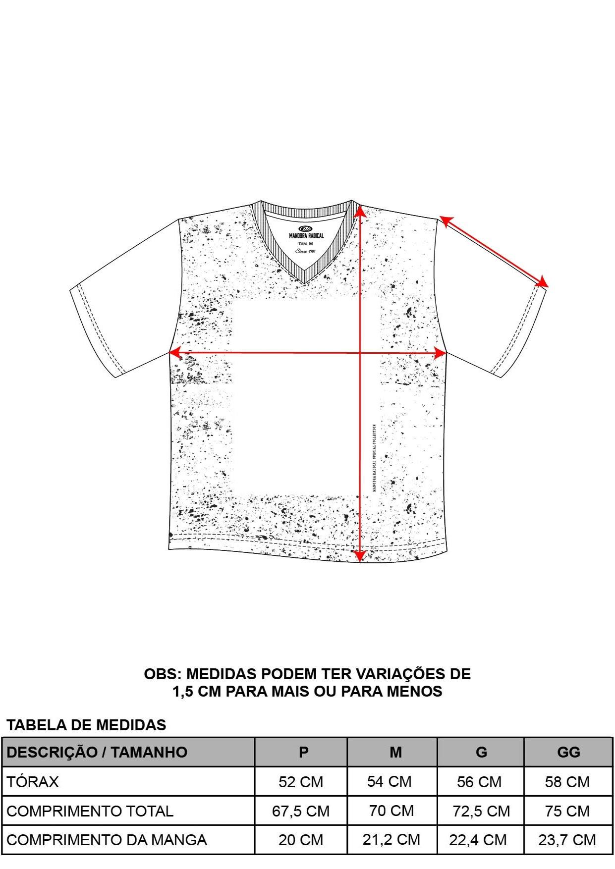 Camiseta Decote V Respingos