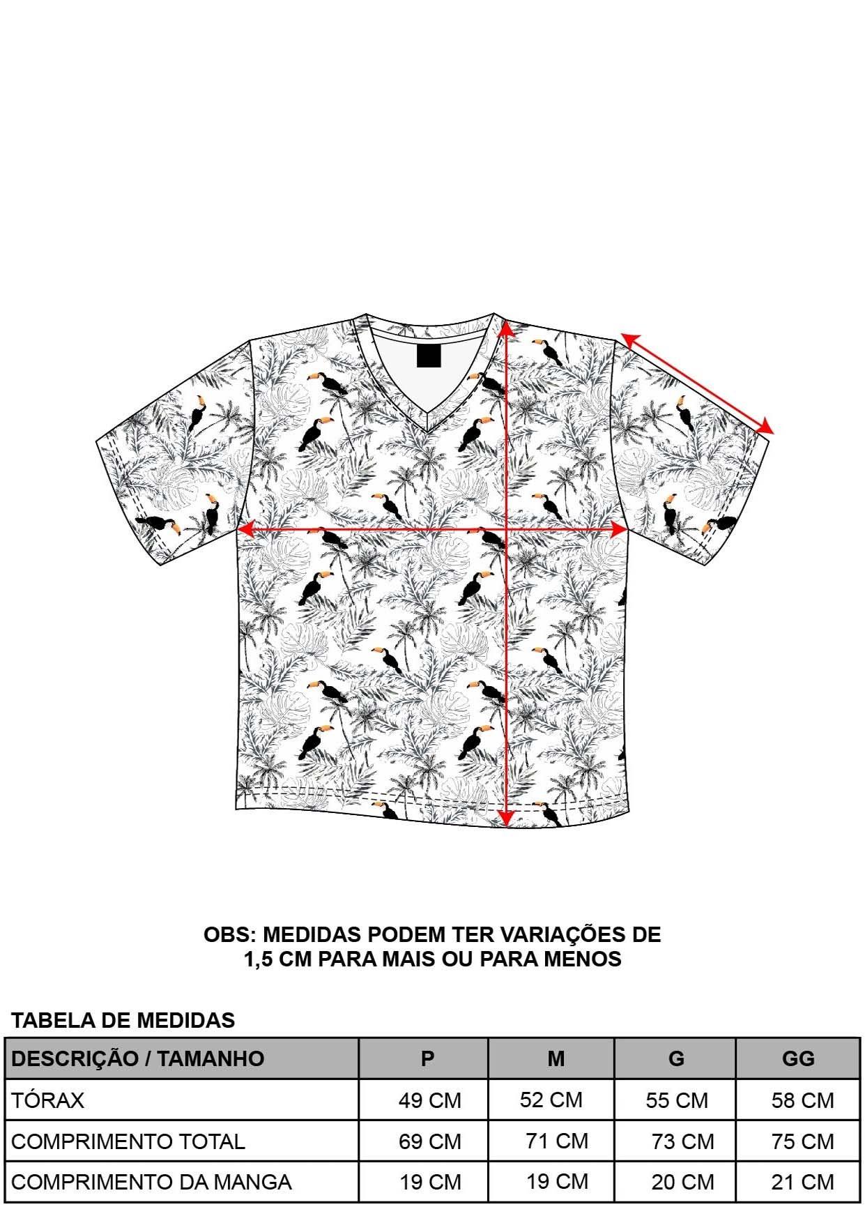 Camiseta Decote V Slim Tucano