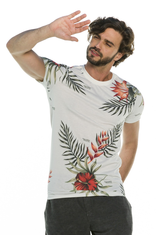 Camiseta Long Slim Floral