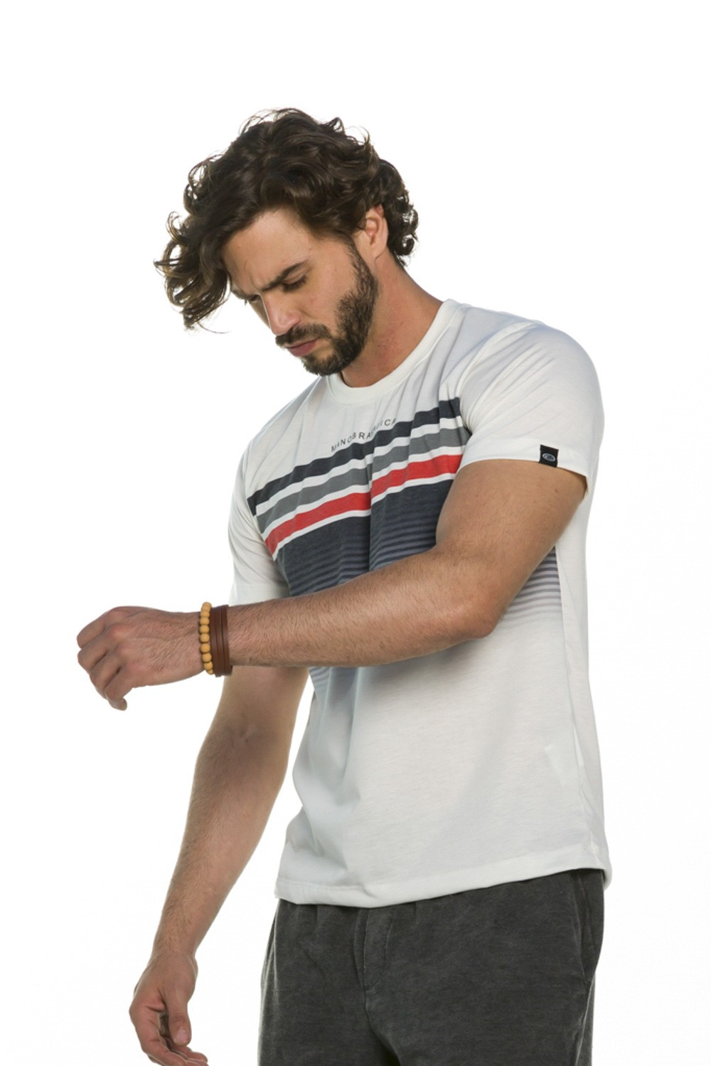 Camiseta Masculina Stripes