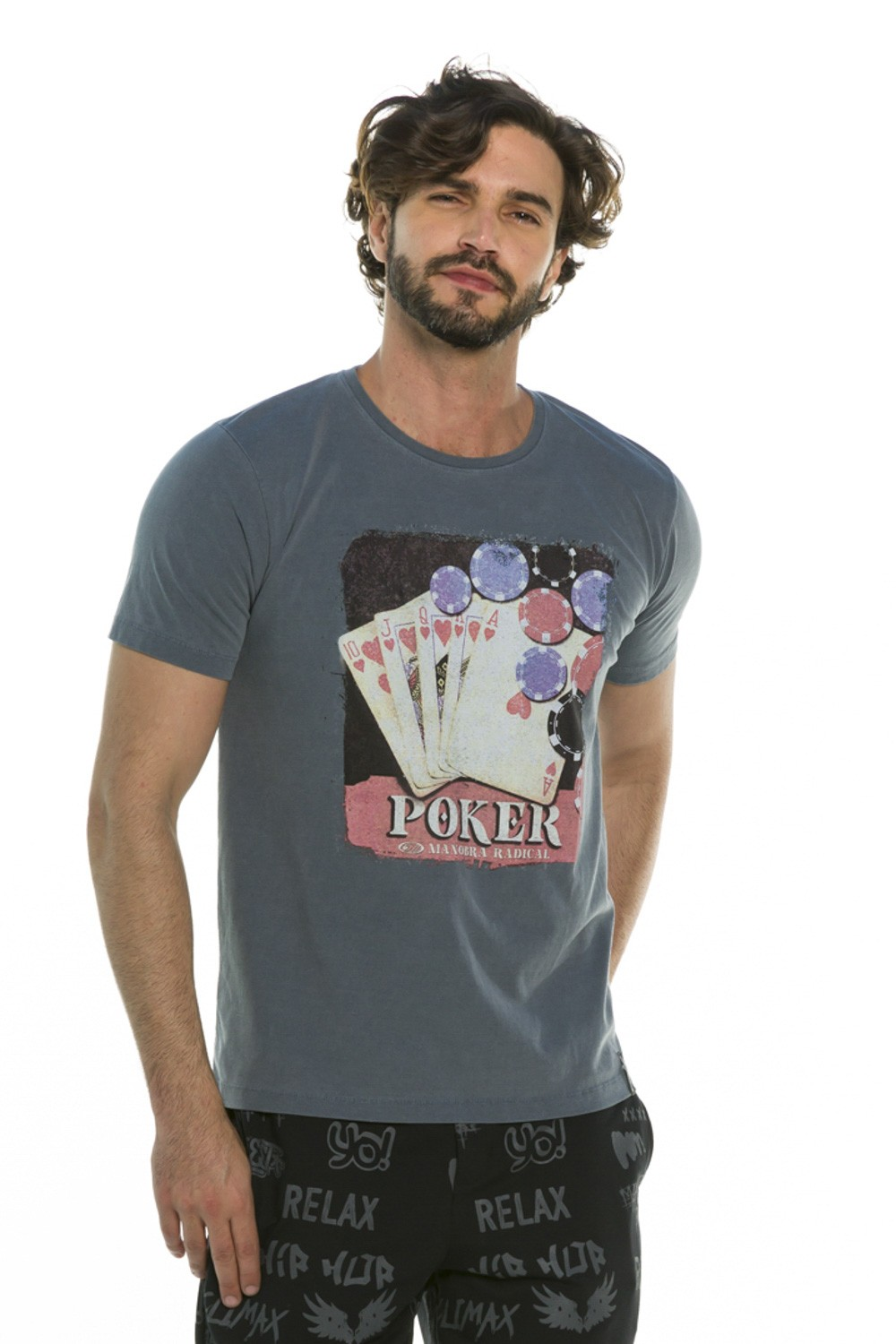 Camiseta Decote Redondo Poker