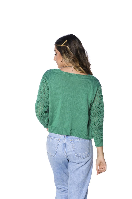 Cardigan de Tricot Verde