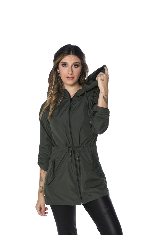 Parka Corta Vento Feminina Militar