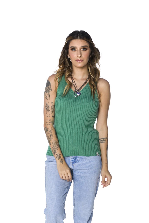 Regatinha de Tricot Feminina Verde