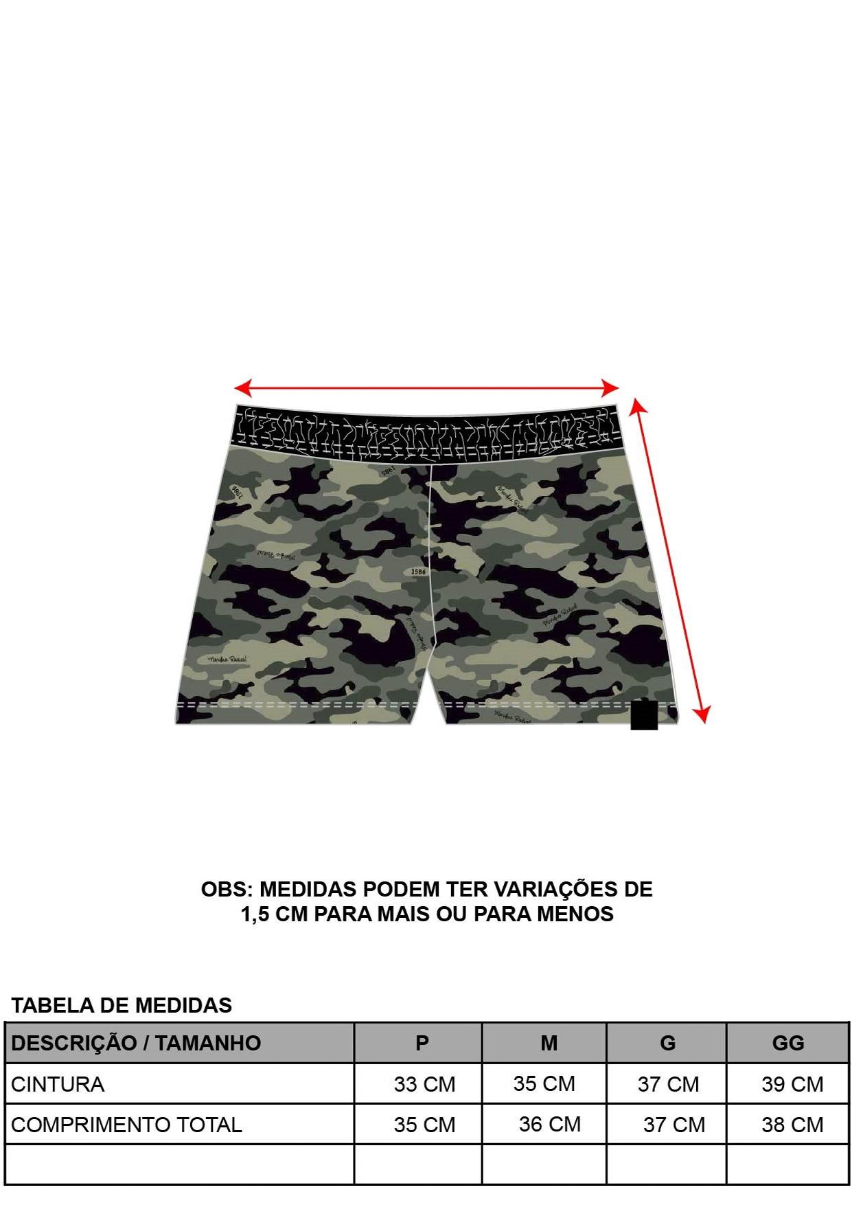 Short Camuflado Militar
