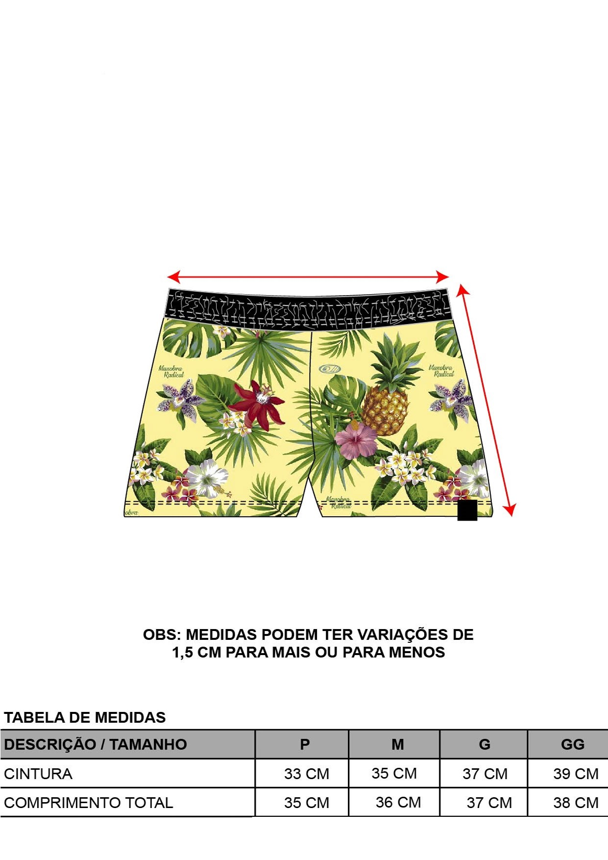 Short Floral Tropical