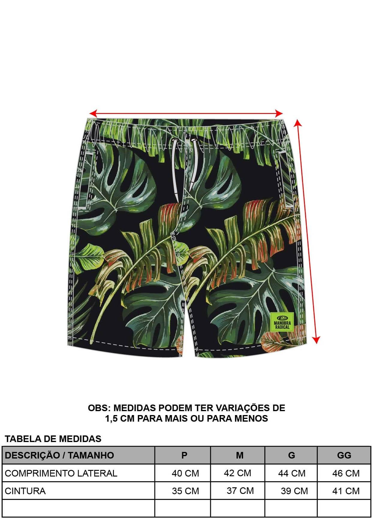 Short Masculino Folhagem