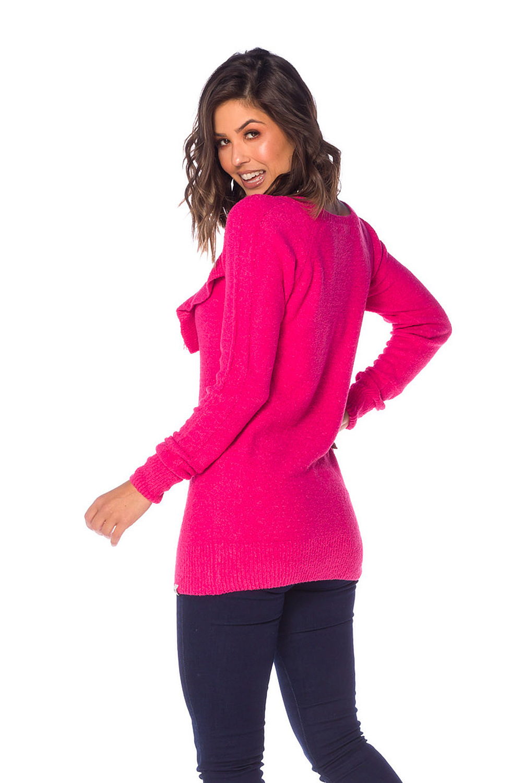 Sobrelegging Feminina Tricot Pink