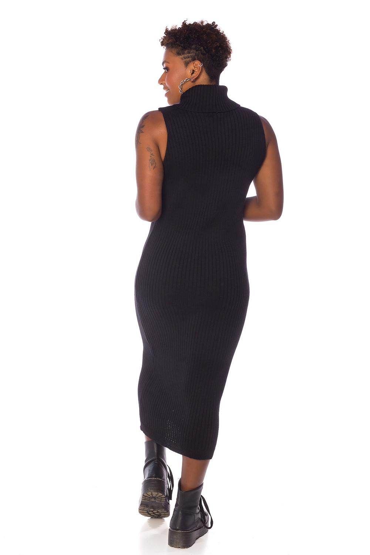 Vestido Feminino de Tricot Preto