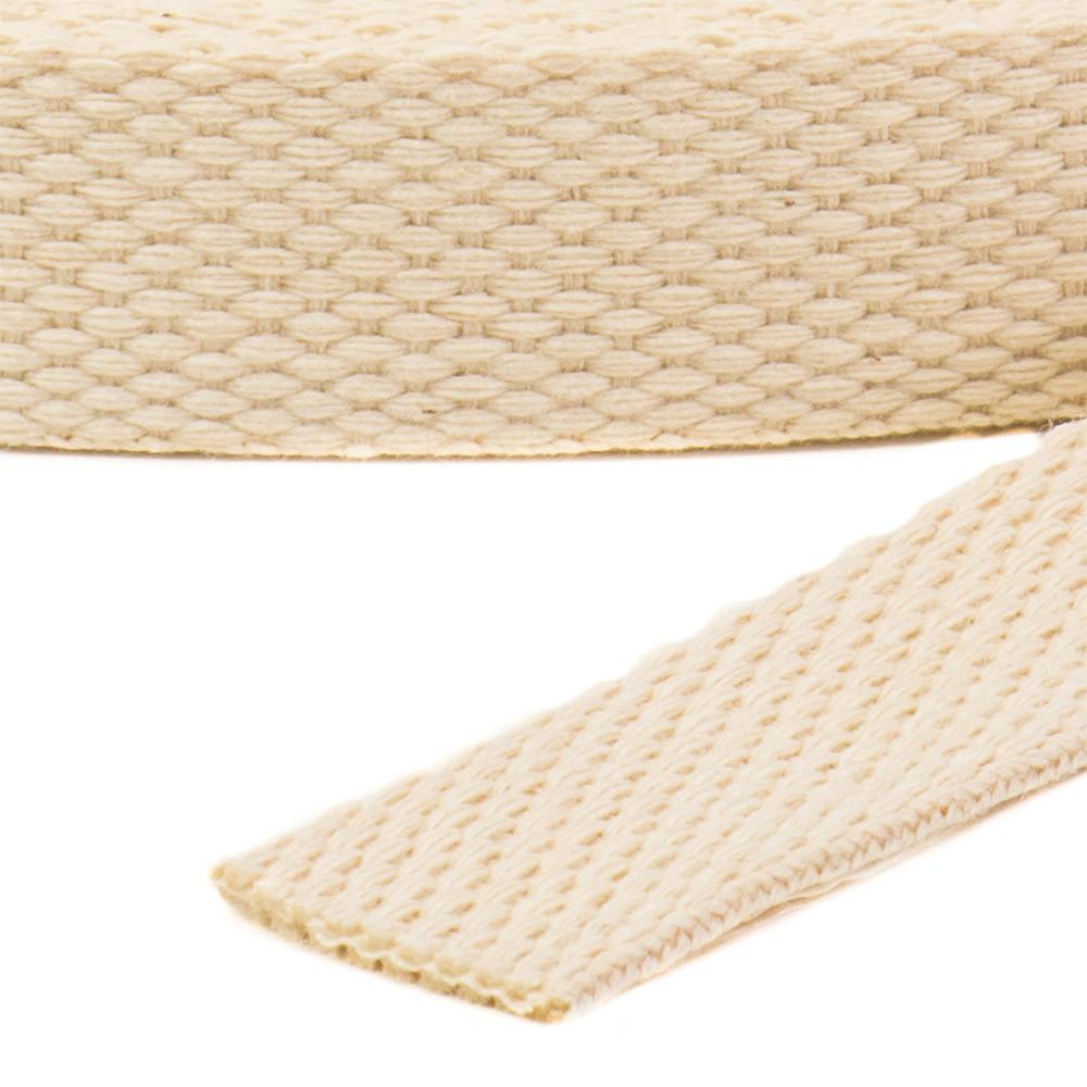 Alça de Algodão Cru largura 2 cm rolo com 25 metros Ref. 3220