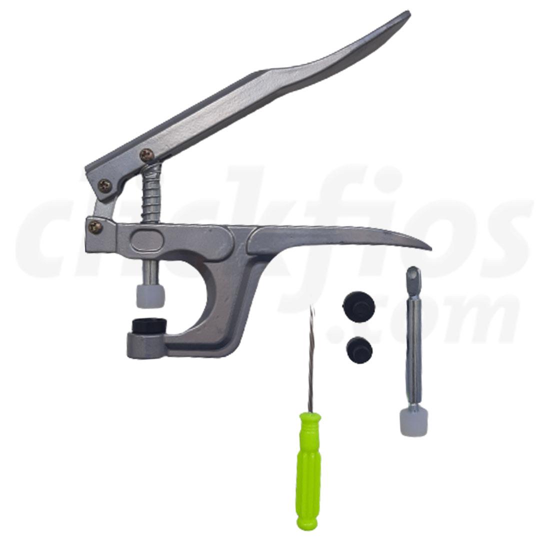 Alicate de Pressão para Botão de Plástico nas medidas de 10, 12 e 15mm Lanmax