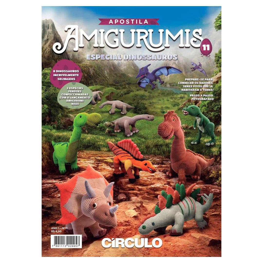 Apostila de Amigurumi No 11 da Círculo - Especial Dinossauros