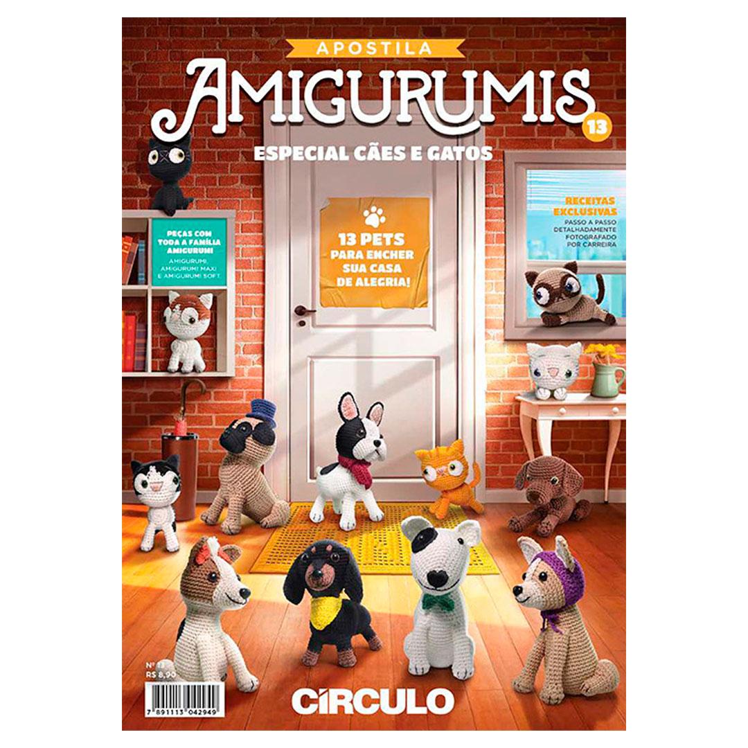 Apostila de Amigurumi No 13 da Círculo - Especial Cães e Gatos