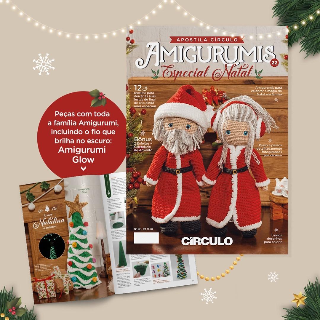 Apostila de Amigurumi No 22 da Círculo - Especial de Natal
