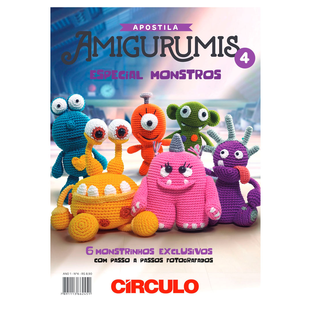 Apostila de Amigurumi No 4 da Círculo - Especial Monstros
