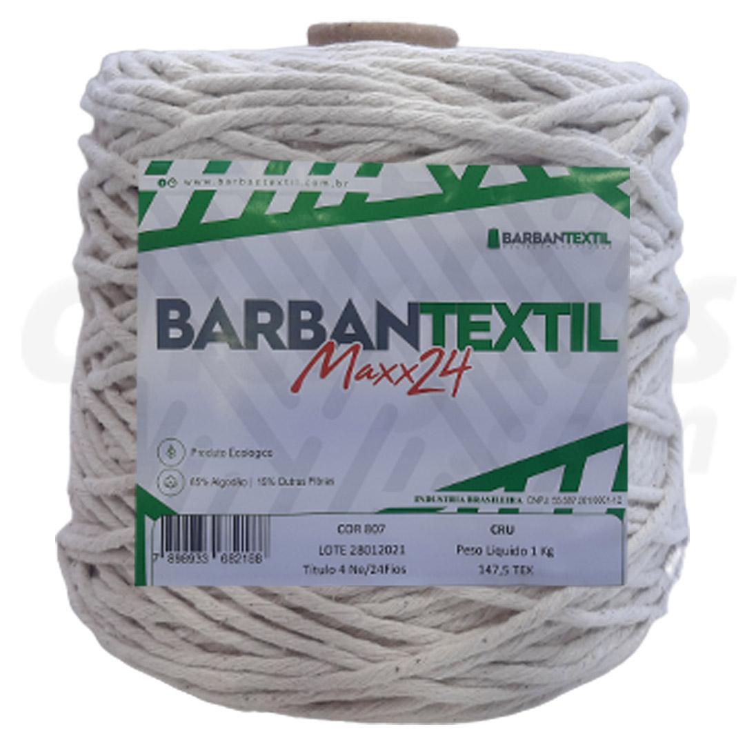 Barbante Barbantextil Maxx24 1kg 24 Fios Cru