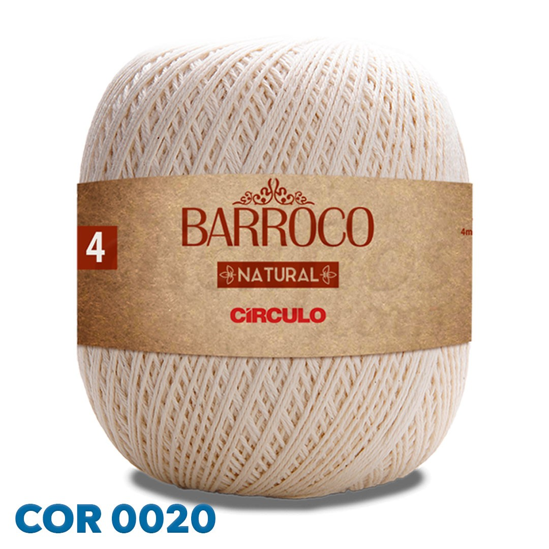 Barbante Barroco Natural Círculo Nº 4 700g