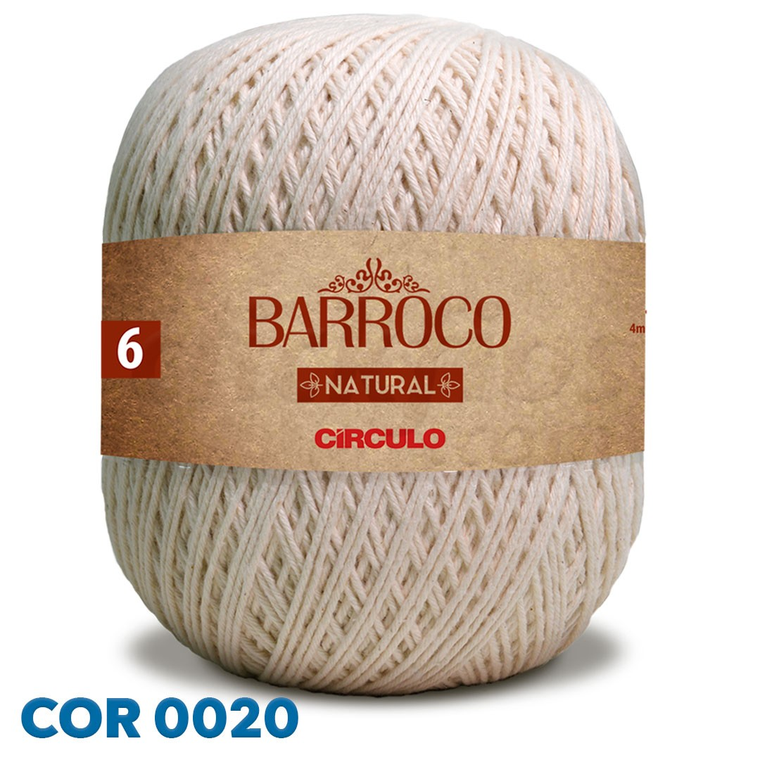 Barbante Barroco Natural Círculo Nº 6 700g