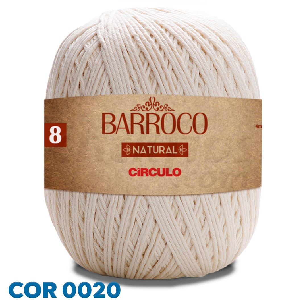 Barbante Barroco Natural Círculo Nº 8 700g