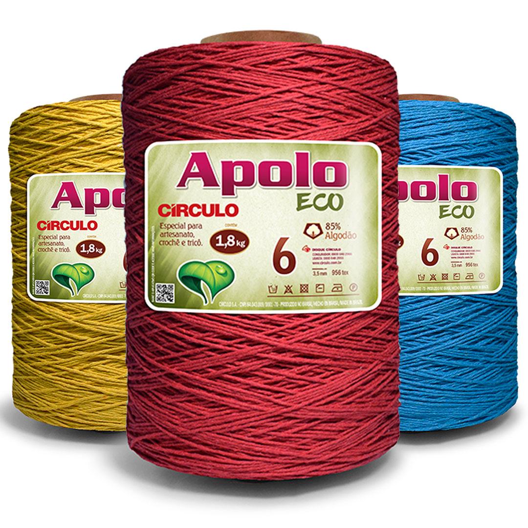 Barbante Colorido Nº 6 Apolo Eco Circulo 1,8 kg