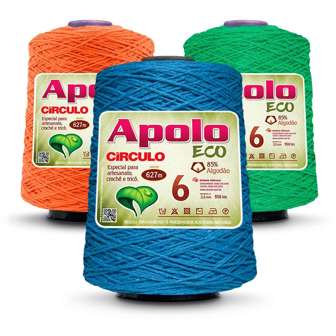 Barbante Colorido Nº 6 Apolo Eco Circulo 600g