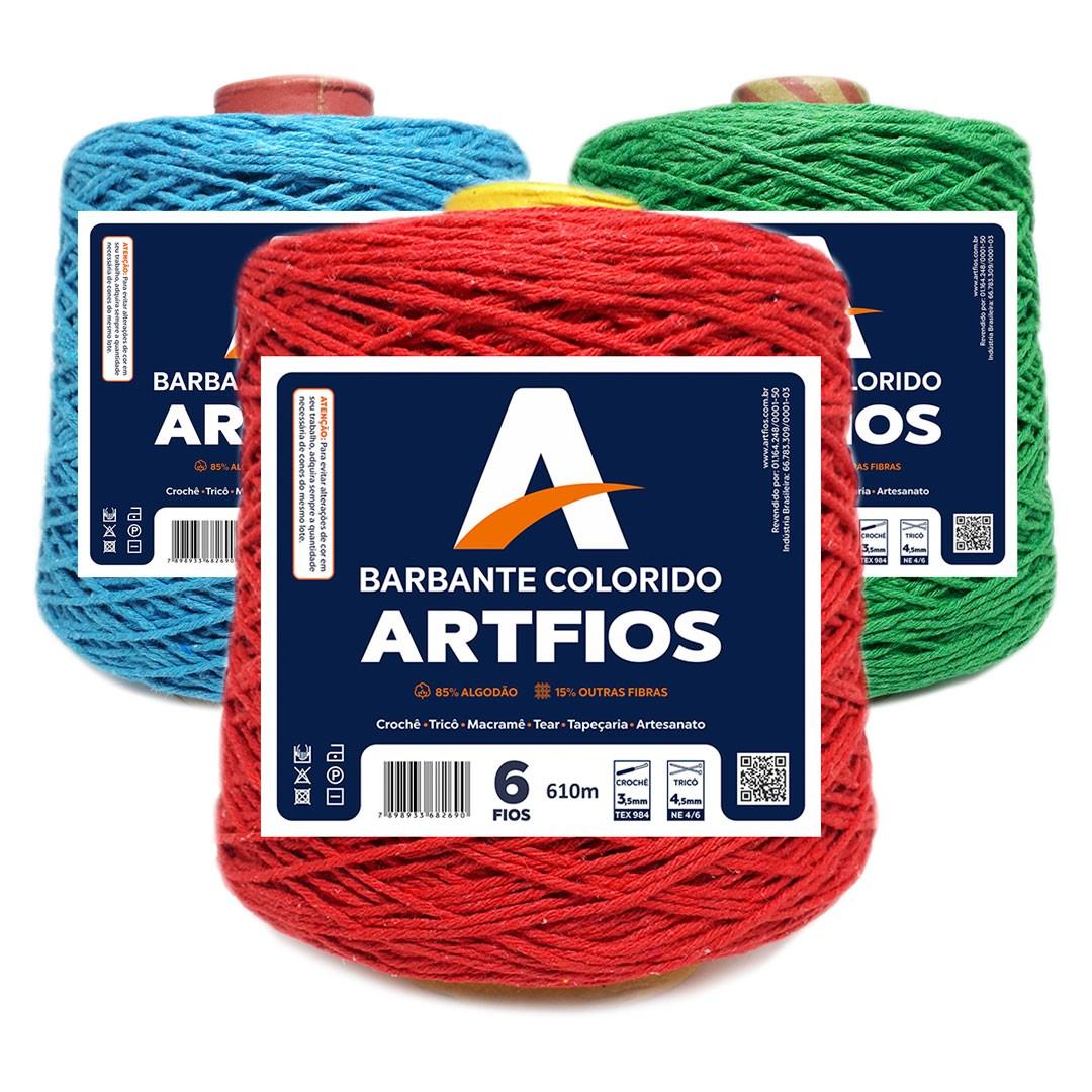 Barbante Colorido Nº 6 Fios Artfios 610m