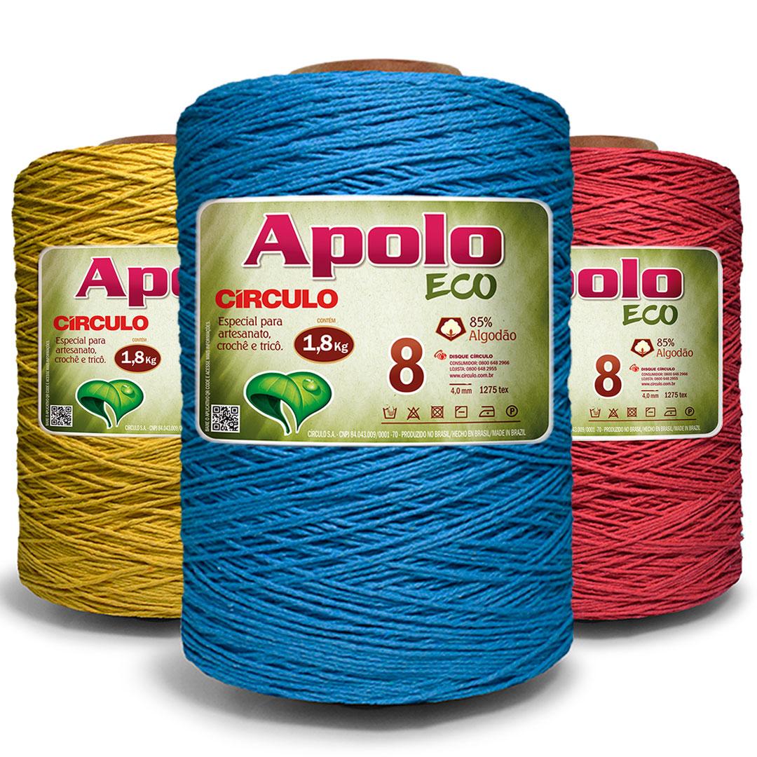 Barbante Colorido Nº 8 Apolo Eco Circulo 1,8 kg