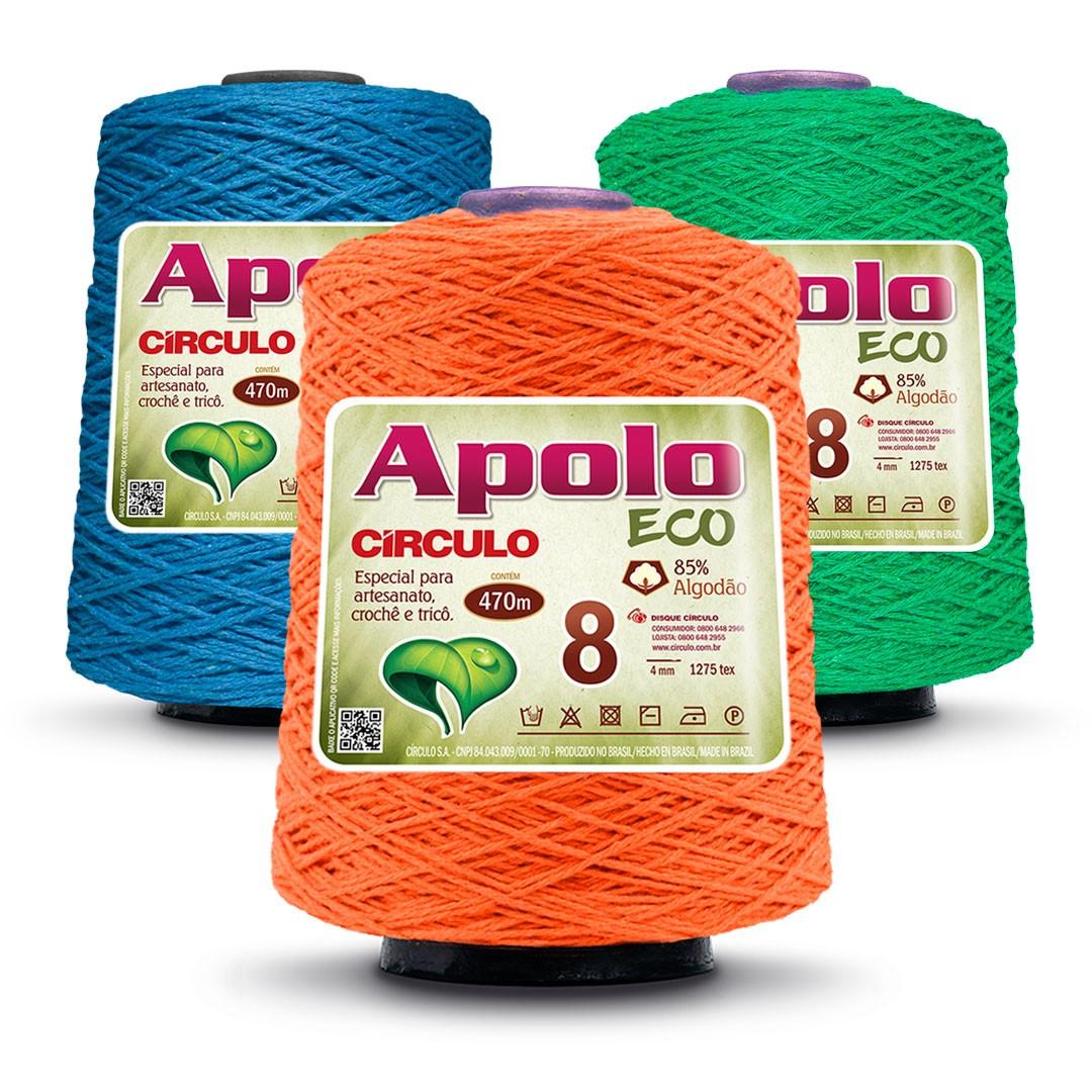 Barbante Colorido Nº 8 Apolo Eco Circulo 600g