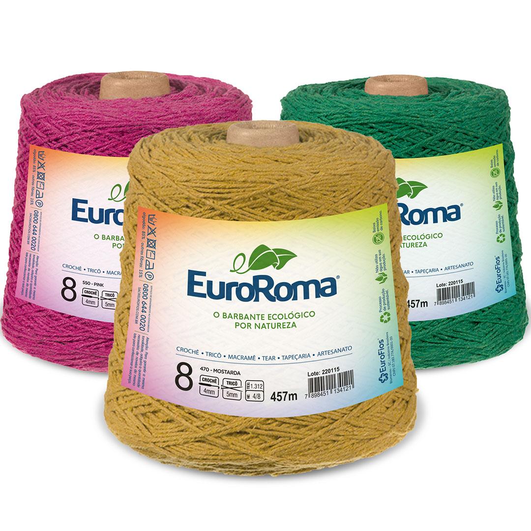 Barbante Colorido Nº 8 Euroroma 600g