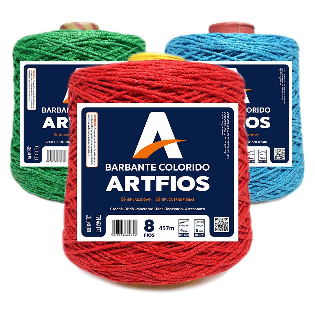 Barbante Colorido Nº 8 Fios Artfios 457m