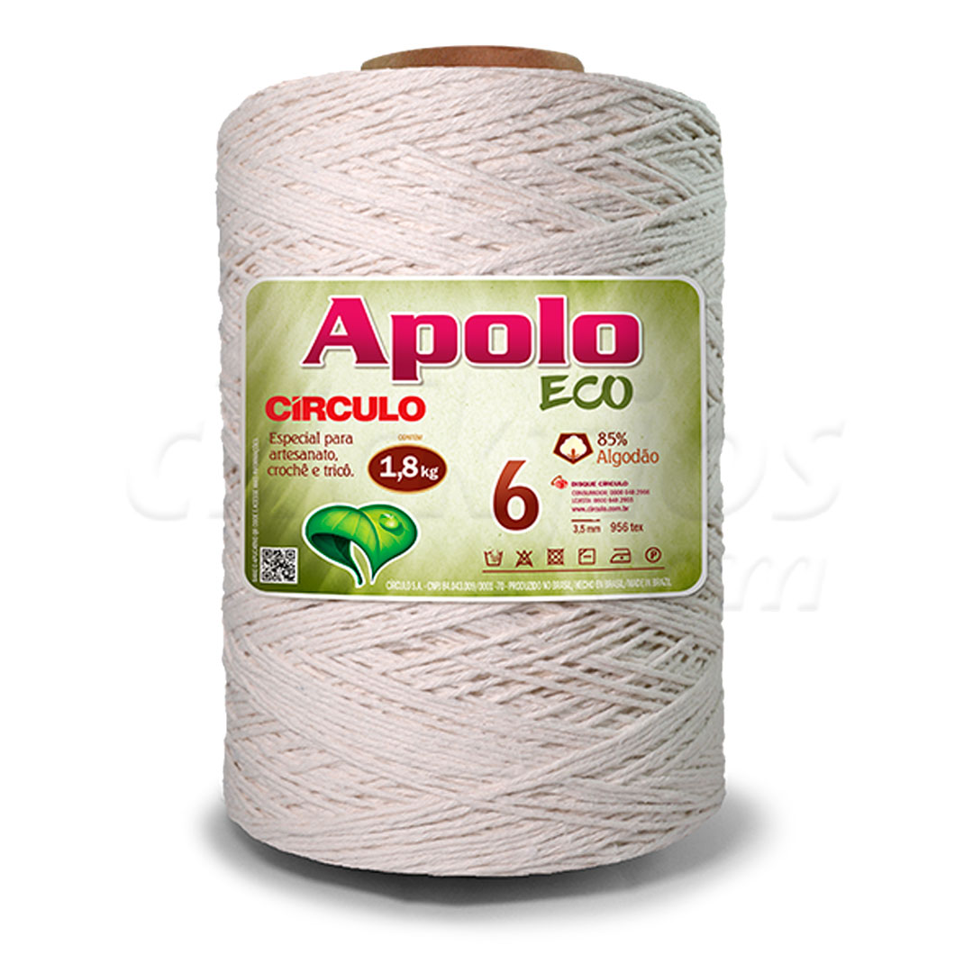 Barbante Cru Nº 6 Apolo Eco Circulo 1,8 kg